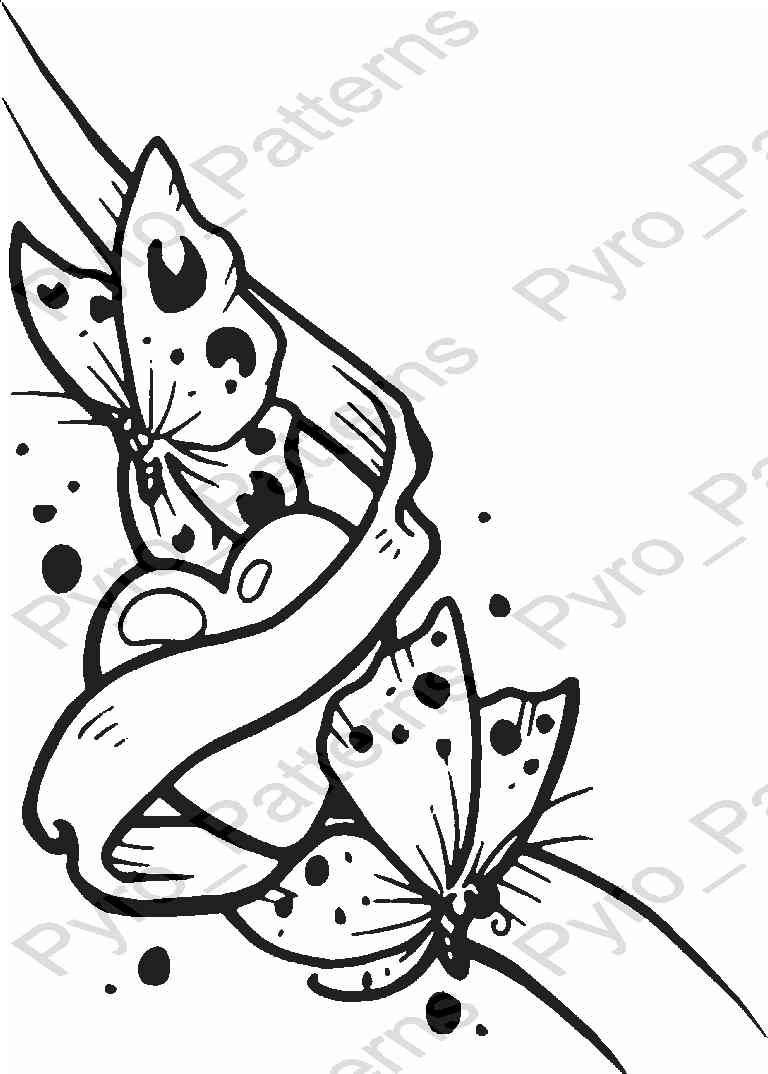 pyrography templates free - pyrography wood burning butterfly heart pattern printable