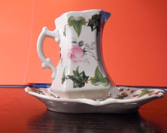 Vintage Creamer and Saucer Made in England