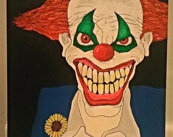 canvas clown art