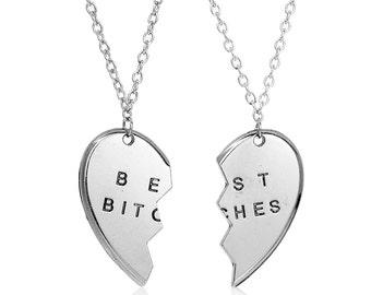 Silver Best Friends Necklace Set