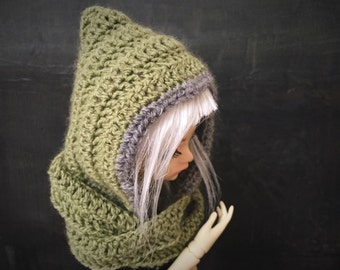 Hood scarf for BJD DOLL. SD and mSD. Minidollfie. Dollfie.