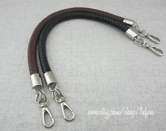 Faux Leather Handbag Handles Black or Brown