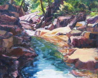 Rushing Water, Northern Minnesota, Rocks and Stream