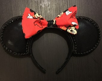 Red Mickey Bow