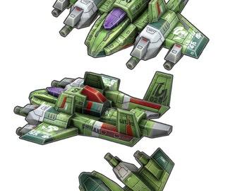Gwi-Jang Papercraft custom series : GAT (Goldlocks Air Troop) No.02