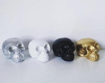 Concrete skulls, pastel skulls, pastel concrete skulls, monochrome concrete skulls, concrete decor, concrete accessories, home decor