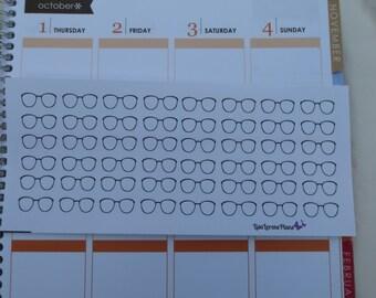 Reading Planner Stickers Frames Glasses |   L11