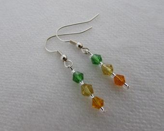 Orange, Yellow & Green Earrings
