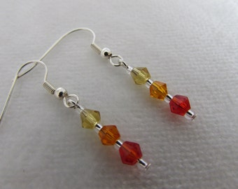 Red, Orange & Yellow Earrings
