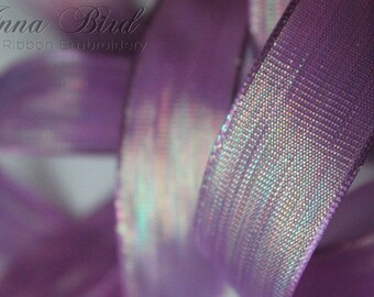 Wired Satin Shimmer Purple Passion Ribbon