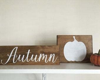 Fall signs / Fall decor / Autumn sign / Pumpkin sign / Wood pumpkin / Autumn decor / Fall wood signs / Thanksgiving decor / Holiday decor