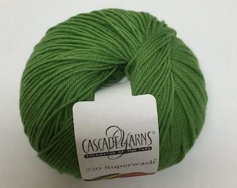 Cascade 220 Superwash Yarn, 208 Apple Green