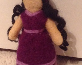 Diana Needle Felted Wool Doll