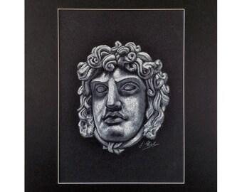 Head of Medusa - Original Drawing