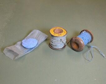 Vintage Chalk Line, Chalk String, Old Carpenter Tools, Industrial Tools, #289