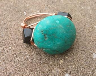 Oversized Turquoise Ring (Size 6)