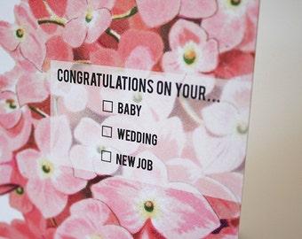 Greeting card : Congratulations!