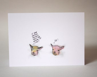 Greeting card : Complex thoughts.
