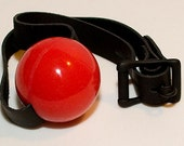 Silicone Ball Gag, medical grade with black leather strap