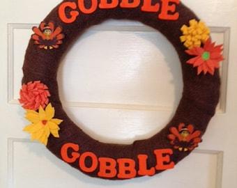 "Straw Wreath, 18"", Fall Wreath, Autumn Wreath, Thanksgiving, Wreath, Front Door"