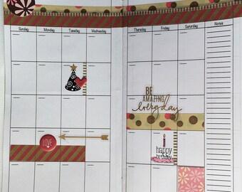 Yearly Planner Insert/ Midori Insert/ Daily Planner/ Midori Planner Inserts/ Travelers Notebook Insert