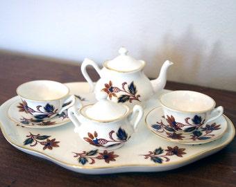 Crown Staffordshire Children's Miniature Tea Set