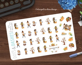B75TT, Teeny Tiny countdown to Thanksgiving, thanksgiving countdown, countdown stickers, thanksgiving stickers, itty bitty thanksgiving