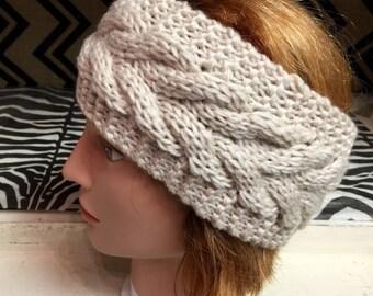 SALE!!! Women's knit headband Ear Warmer Beige