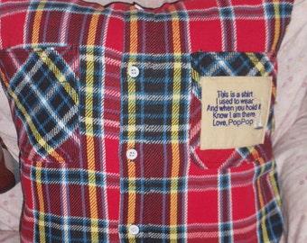 Shirt Memory Pillow