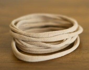 Nude nylon headband, black nylon headband, white nylon headband, Nude Nylon One-Size Fits All Headbands, Nylon Headband Supply, Wholesale