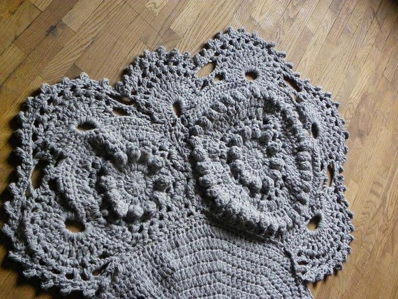 Crochet elephant Rug Nursery decor Home by NiftyCreations4you