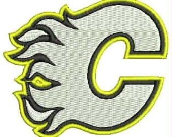 Calgary Flames Embroidery Design