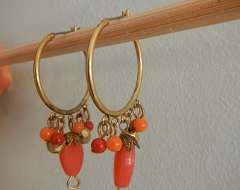 Hoop and Dangle Earrings, Vintage