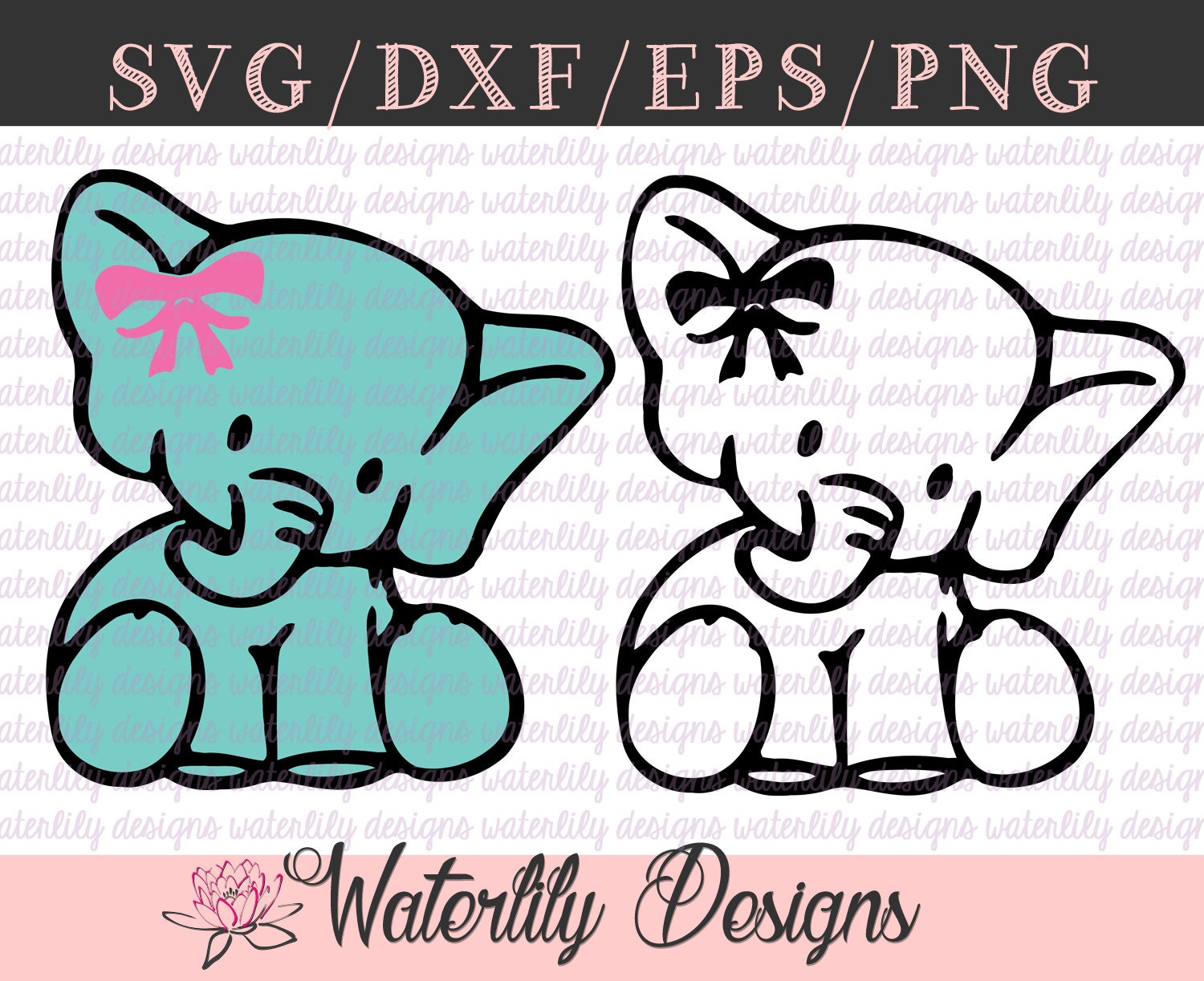 Download Baby Elephant SVG Cut File Instant Download Animals