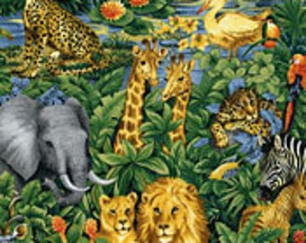 Jungle Print 100% Cotton Fabric