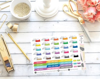 Sick Day Stickers    43 Planner Stickers