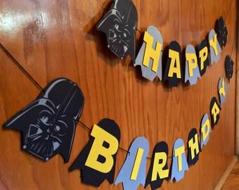 Darth Vader Banner-Star Wars Birthday-Star Wars-Star Wars Banner-Star Wars Birthday-Darth Vader Birthday Banner-Décor-Party Décor