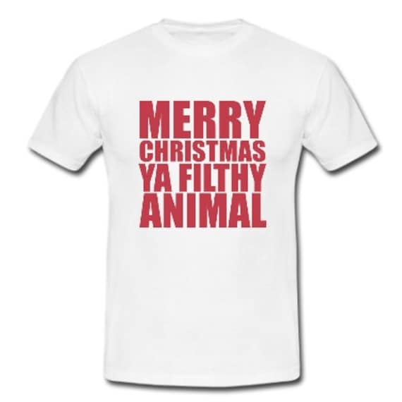 Merry Christmas Ya Filthy Animal Mens Funny By Pauls00prints