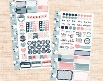Fall in Love PERSONAL Kit (matte planner sticker, Filofax, Kikki K, Websters Pages, Color Crush)