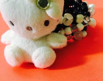 Hello kitty plush kandi cuff