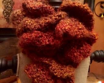 Amber Autumn Crochet Scarf