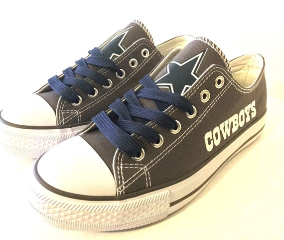 dallas cowboys s athletic shoes by sportzunlimited on etsy