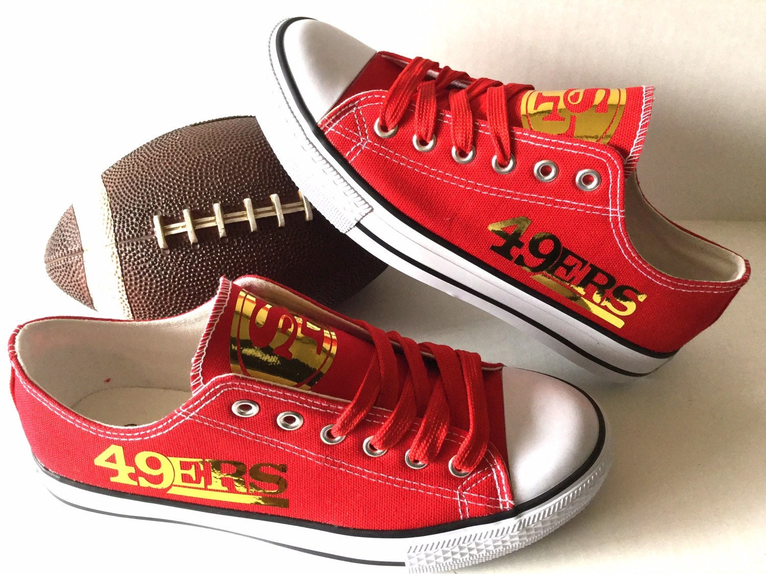 san francisco 49ers gold s athletic shoes by