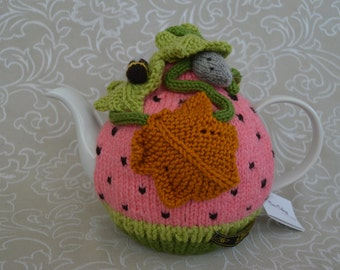 Watermelon Field Mouse Tea Cosy