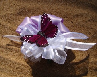 Pin On Corsage With Single Butterfly
