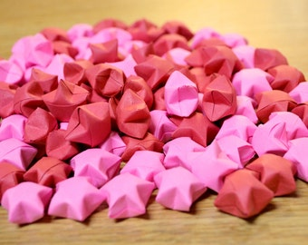 100 Origami Stars - [MIXED: 50 Pink, 50 Red]