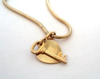 Forstner 12K GF Heart Key Charm Bracelet