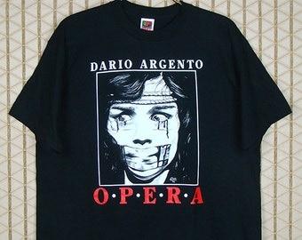 Opera movie, Dario Argento, vintage & rare T-shirt, black tee shirt, Giallo, Italian horror masterpiece, Suspiria