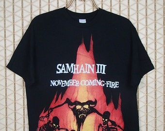 Samhain III, November-Coming-Fire shirt, vintage black tee,  Misfits, Danzig