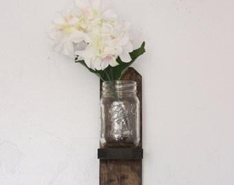 Small Rustic Shelf / Small Vintage Shelf / Small Flower Shelf / Small Mason Jar Shelf
